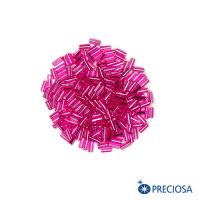 """Стеклярус гранёный Чехия размер 2"""" (5*2 мм) арт. 18275 """"Огонёк"""" прозрачный, насыщенно-розовые тона, 10 гр. 062937 - 99 бусин"""