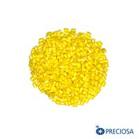 """Микростеклярус гранёный, Чехия размер 1"""" (около 2,5*1,9 мм) арт. 88130 непрозрачный, цвет ярко-желтый, 10 гр. 062938 - 99 бусин"""