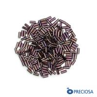 Стеклярус гладкий, черничный перламутр, размер 2 (5*2 мм) арт. 27019, 10 гр, Чехия 062941 - 99 бусин