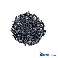 Микростеклярус гладкий, непрозрачный жемчужный блеск гематит, размер 1 (2,5*1,9 мм) арт. 49102, 10 гр, Чехия 062942 - 99 бусин