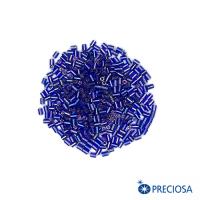 Микростеклярус гладкий, сине-сиреневые тона, размер 1 (2,5*1,9 мм) арт. 37059, 10 гр, Чехия 062943 - 99 бусин