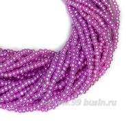 Бисер Sharlotte граненый, жемчужный блеск, розовато-сиреневые тона, арт. 37328, 13 размер, около 30 см/нить, 3 нити/упаковка, (около 3 гр.), Чехия 062979 - 99 бусин