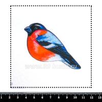 Шаблон для броши Снегирь, фетр Корея Премиум, толщина 1,25 мм, размер 10*10 см 063007 - 99 бусин