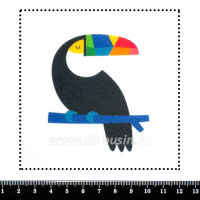 Шаблон для броши Тукан графический, фетр Корея Премиум, толщина 1,25 мм, размер 10*10 см 063009 - 99 бусин