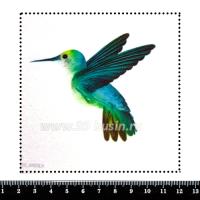 Шаблон для броши Колибри зелёная, фетр Корея Премиум, толщина 1,25 мм, размер 10*10 см 063011 - 99 бусин