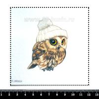 Шаблон для броши Совёнок в шапочке, фетр Корея Премиум, толщина 1,25 мм, размер 10*10 см 063015 - 99 бусин