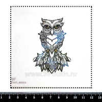 Шаблон для броши Графическая сова, фетр Корея Премиум, толщина 1,25 мм, размер 10*10 см 063016 - 99 бусин