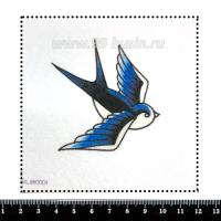 Шаблон для броши Графическая синица, фетр Корея Премиум, толщина 1,25 мм, размер 10*10 см 063018 - 99 бусин