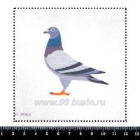 Шаблон для броши Голубь, фетр Корея Премиум, толщина 1,25 мм, размер 10*10 см 063021 - 99 бусин