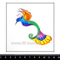 Шаблон для броши Фантазийная колибри, фетр Корея Премиум, толщина 1,25 мм, размер 10*10 см 063022 - 99 бусин