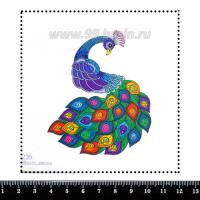 Шаблон для броши Мультяшный фиолетовый павлин, фетр Корея Премиум, толщина 1,25 мм, размер 10*10 см 063031 - 99 бусин