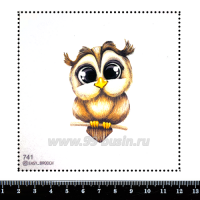 Шаблон для броши Глазастик совёныш, фетр Корея Премиум, толщина 1,25 мм, размер 10*10 см 063034 - 99 бусин
