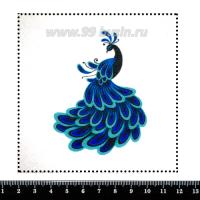 Шаблон для броши Тёмный павлин 242, фетр Корея Премиум, толщина 1,25 мм, размер 10*10 см 063036 - 99 бусин