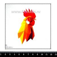 Шаблон для броши Петух геометрический, фетр Корея Премиум, толщина 1,25 мм, размер 10*10 см 063038 - 99 бусин