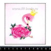Шаблон для броши Принцесса фламинго, фетр Корея Премиум, толщина 1,25 мм, размер 10*10 см 063039 - 99 бусин