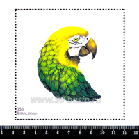 Шаблон для броши Попугай жёлто-зелёный, фетр Корея Премиум, толщина 1,25 мм, размер 10*10 см 063047 - 99 бусин