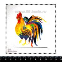 Шаблон для броши Пёстрый петушок, фетр Корея Премиум, толщина 1,25 мм, размер 10*10 см 063052 - 99 бусин