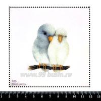 Шаблон для броши Воркующая парочка, фетр Корея Премиум, толщина 1,25 мм, размер 10*10 см 063053 - 99 бусин