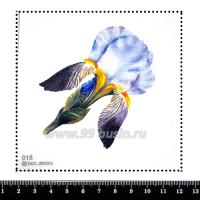 Шаблон для броши Нежный ирис, фетр Корея Премиум, толщина 1,25 мм, размер 10*10 см 063054 - 99 бусин