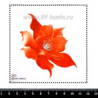 Шаблон для броши Огненный цветок, фетр Корея Премиум, толщина 1,25 мм, размер 10*10 см 063055 - 99 бусин
