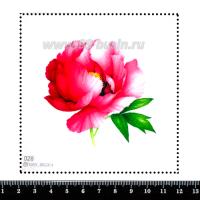 Шаблон для броши Розовый пион, фетр Корея Премиум, толщина 1,25 мм, размер 10*10 см 063057 - 99 бусин