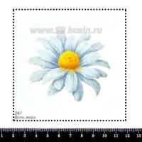 Шаблон для броши Ромашка, фетр Корея Премиум, толщина 1,25 мм, размер 10*10 см 063065 - 99 бусин