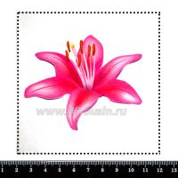 Шаблон для броши Розовая лилия 252, фетр Корея Премиум, толщина 1,25 мм, размер 10*10 см 063066 - 99 бусин