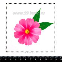 Шаблон для броши Космея ярко-розовый, фетр Корея Премиум, толщина 1,25 мм, размер 10*10 см 063069 - 99 бусин