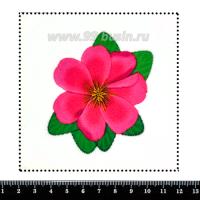 Шаблон для броши Розовый тропический цветок, фетр Корея Премиум, толщина 1,25 мм, размер 10*10 см 063070 - 99 бусин