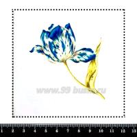 Шаблон для броши Волшебный тюльпан, фетр Корея Премиум, толщина 1,25 мм, размер 10*10 см 063071 - 99 бусин