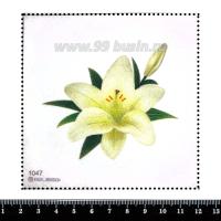 Шаблон для броши Нежная лилия, фетр Корея Премиум, толщина 1,25 мм, размер 10*10 см 063074 - 99 бусин