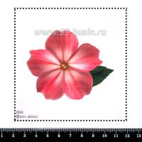 Шаблон для броши Цветок, фетр Корея Премиум, толщина 1,25 мм, размер 10*10 см 063086 - 99 бусин