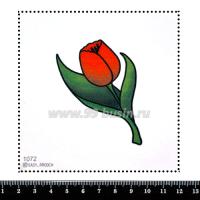 Шаблон для броши Красный тюльпан, фетр Корея Премиум, толщина 1,25 мм, размер 10*10 см 063091 - 99 бусин