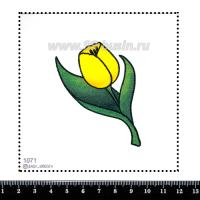 Шаблон для броши Жёлтый тюльпан, фетр Корея Премиум, толщина 1,25 мм, размер 10*10 см 063094 - 99 бусин