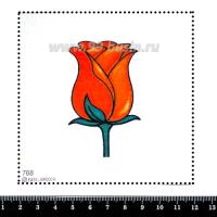 Шаблон для броши Роза, фетр Корея Премиум, толщина 1,25 мм, размер 10*10 см 063096 - 99 бусин