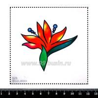 Шаблон для броши Красный цветок, фетр Корея Премиум, толщина 1,25 мм, размер 10*10 см 063098 - 99 бусин