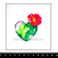Шаблон для броши Кактус сердечко, фетр Корея Премиум, толщина 1,25 мм, размер 10*10 см 063106 - 99 бусин