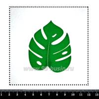 Шаблон для броши Лист монстеры, фетр Корея Премиум, толщина 1,25 мм, размер 10*10 см 063109 - 99 бусин