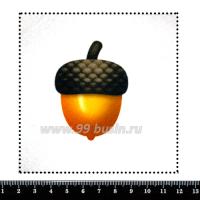 Шаблон для броши Желудь, фетр Корея Премиум, толщина 1,25 мм, размер 10*10 см 063111 - 99 бусин