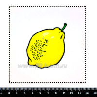 Шаблон для броши Лимон, фетр Корея Премиум, толщина 1,25 мм, размер 10*10 см 063119 - 99 бусин
