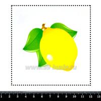 Шаблон для броши Лимон 023 фетр Корея Премиум, толщина 1,25 мм, размер 10*10 см 063121 - 99 бусин