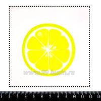 Шаблон для броши Лимон в разрезе, фетр Корея Премиум, толщина 1,25 мм, размер 10*10 см 063122 - 99 бусин