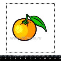 Шаблон для броши Мандарин с контуром, фетр Корея Премиум, толщина 1,25 мм, размер 10*10 см 063124 - 99 бусин