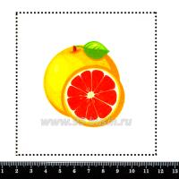 Шаблон для броши Грейпфрут, фетр Корея Премиум, толщина 1,25 мм, размер 10*10 см 063125 - 99 бусин