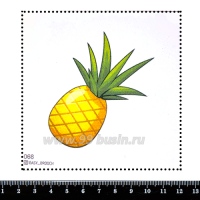 Шаблон для броши Ананасик, фетр Корея Премиум, толщина 1,25 мм, размер 10*10 см 063127 - 99 бусин
