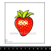 Шаблон для броши Клубничка, фетр Корея Премиум, толщина 1,25 мм, размер 10*10 см 063130 - 99 бусин