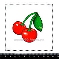 Шаблон для броши Вишенки, фетр Корея Премиум, толщина 1,25 мм, размер 10*10 см 063131 - 99 бусин
