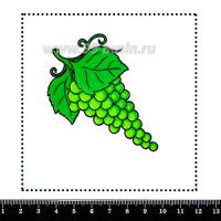 Шаблон для броши Зелёный виноград 241, фетр Корея Премиум, толщина 1,25 мм, размер 10*10 см 063133 - 99 бусин