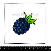 Шаблон для броши Ежевичка 282, фетр Корея Премиум, толщина 1,25 мм, размер 10*10 см 063134 - 99 бусин