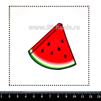 Шаблон для броши Кусочек арбуза, фетр Корея Премиум, толщина 1,25 мм, размер 10*10 см 063137 - 99 бусин